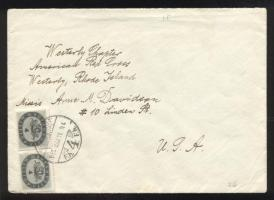 1946 (15. díjszabás) Levél az USA-ba 10x 4 millióP bérmentesítéssel / Cover to the USA with 10 x 4 million P franking