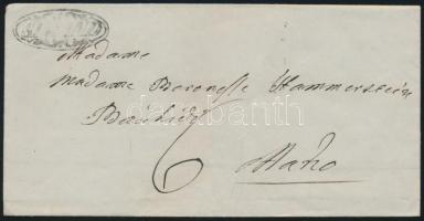 1846 Portós levél / cover with postage due (kis hiány / incomplete) SIMAND - Mako