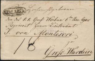 ca. 1830 Portós levél / cover with postage due SZALABÉR - Gross-Wardein
