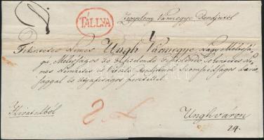 1828 Ex offo piros / red TÁLLYA - Unghvár