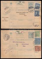 AUSZTRIA 215 db csomagszállító Törökországba az 1910-es évekből / AUSTRIA 215 parcel cards to Turkey from the mid 1910-es