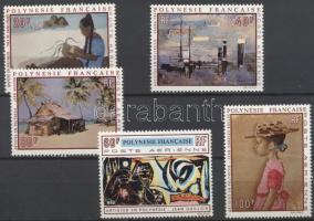 1970 Polinéziai festők művei sor Mi 121-125