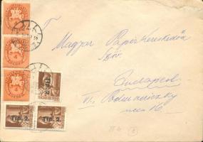 1946 (8. díjszabás) Helyi levél 250gr-ig túl-, 500gr-ig alul bérmentesítve