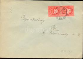 1946 (8. díjszabás) Távolsági levél 2x Lovasfutár 10ezerP bérmentesítéssel
