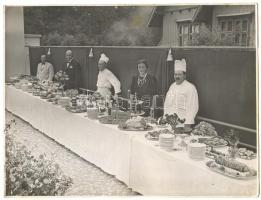 Budapest VIII. Park szálló étterme, 4 db nagyméretű fotó,  24x18 cm