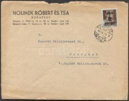 1945 (2. díjszabás) Helyi levél Kisegítő 2P/4f bérmentesítéssel