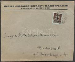 1945 (2. díjszabás) Helyi céges levél Kisegítő 2P/4f bérmentesítéssel