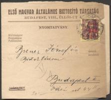 1945 (2. díjszabás) Nyomtatvány Kisegítő 40f/24f bérmentesítéssel