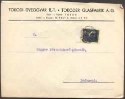 1945 (2. díjszabás) Helyi céges levél 250gr-ig Kisegítő 3P/50f bérmentesítéssel