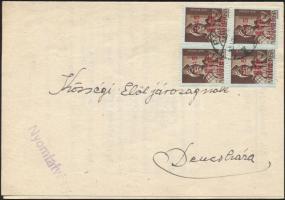 1945 (2. díjszabás) Nyomtatvány Kisegítő 10f/4f bérmentesítéssel