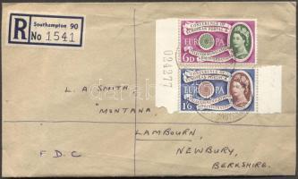 1960 Európa ívszéli sor Mi 341-342 ajánlott FDC-n