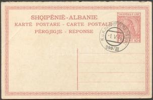 1916 Albán díjjegyes levelezőlap HFP 300/III bélyegzéssel, címzetlen
