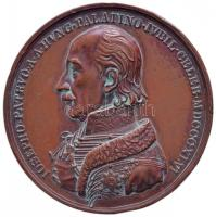 "Hungary 1846. ""50th anniversary of Archduke Joseph, Palatine of Hungary"" Br commemorative medallion. Sign: Konrad Lange (54mm), Konrad Lange 1846. József főherceg nádorságának 50. évfordulója Br emlékérem a főherceg és V. Ferdinánd mellképével (54mm)"