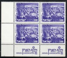 1971 Tájak tabos bélyeg négyestömbben Mi 537 y I