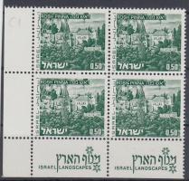 1971 Tájak tabos bélyeg négyestömbben Mi 531 y II