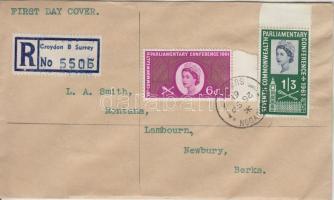 1961 7.Nemzetközösségi Parlamenti konferencia Mi 349-350 ajánlott FDC