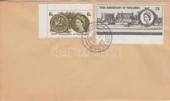 1965 Simon de Montforts Parlament 700 éves Mi 386-387 x FDC-n
