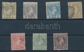 1885 Forgalmi Mi 1-6 + 8