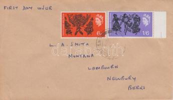 1965 Nemzetközösségi Művészeti fesztivál Mi 392-393 x futott FDC-n