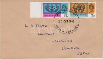 1965 20 éves az UNO Mi 404-405 futott FDC-n