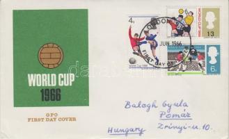 1966 Football Világbajnokság, Anglia Mi 422-424 futott FDC-n