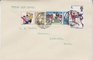 1966 Football Világbajnokság, Anglia Mi 422-424 FDC-n