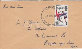 1966 Football Világbajnokság, Anglia felülnyomással ENGLAND WINNERS Mi 429 futott FDC-n