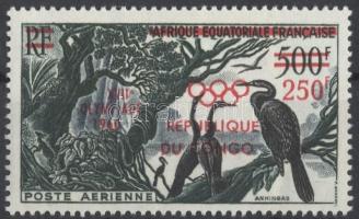 1960 Nyári olimpia: Róma, felülnyomott Mi 3