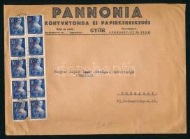 1946 (7. díjszabás) Távolsági céges levél 250g-ig 10x Betűs Hl.I./50f bérmentesítéssel