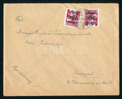 1946 (7. díjszabás) Nyomtatvány 2x Kisegítő 300P/30f bélyeggel 500P helyett 600P bérmentesítéssel