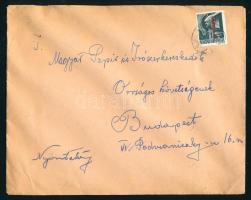 1946 (7. díjszabás) Nyomtatvány Betűs Any.2./1f bérmentesítéssel