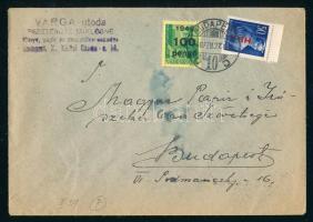 1946 (7. díjszabás) Nyomtatvány Betűs Hl.I./50f + Kisegítő 100P/12f bérmentesítéssel