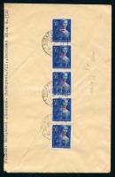 1946 (7. díjszabás) Helyi levél 5x Betűs Hl.I./50f bérmentesítéssel