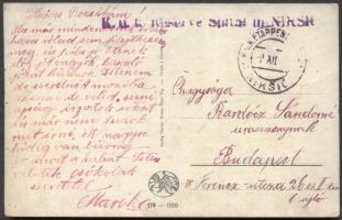 1916 Levelezőlap EP Niksic b - Budapest