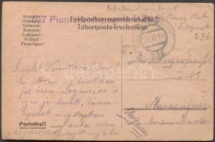 1916 Levelezőlap 5/7 Pionerkompagnie I. Zug. FP 236