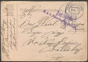 1917 Levelezőlap K.u.k. Reserveoffizierschule FP 406