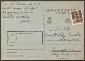 1946 (7. díjszabás) Távolsági levelezőlap Betűs Tlp.2./4f bérmentesítéssel