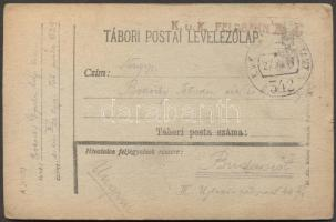 1917 Levelezőlap K.u.k. Feldbahn No. 4. EP 342
