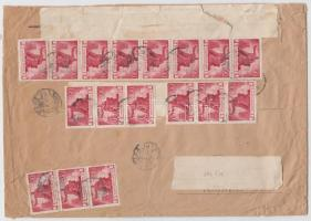 1946 (7. díjszabás) Távolsági levél 500g-ig 17x Újjáépítés 300P bélyeggel, 900P alulbérmentesítéssel (köznapi állapotban)