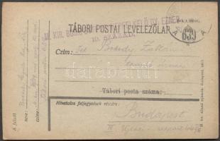 1918 Levelezőlap TP 639A