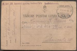 1917 Levelezőlap TP 425a