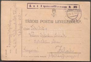 1918 Levelezőlap TP 338 - Zilah
