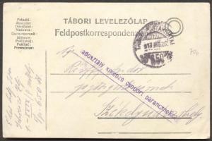 1917 Levelezőlap Hadosztály kiképző csoport parancsnokság TP 650