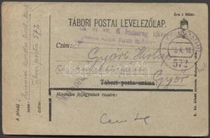 1918 Levelezőlap FP 572 - Győr