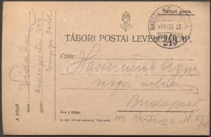 1917 Levelezőlap HP 249A - Budapest