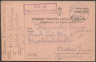 1917 Levelezőlap TP 415b