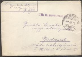 1917 Levél TP 290b - Budapest