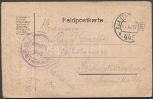1917 Levelezőlap EP 445a - Székelykeresztúr