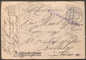 1917 Levelezőlap K.u.k. Reserveoffizierschule TP 406