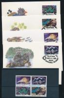 1986 WWF: Kagylók sor Mi 73-76 + 4 FDC